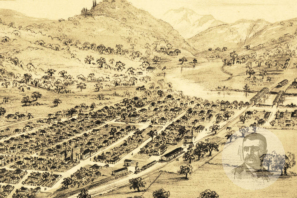 Healdsburg, CA Historical Map - 1876 - Ted's Vintage Maps