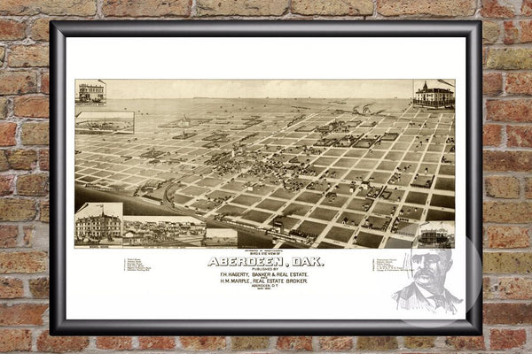 Aberdeen, SD Historical Map - 1883