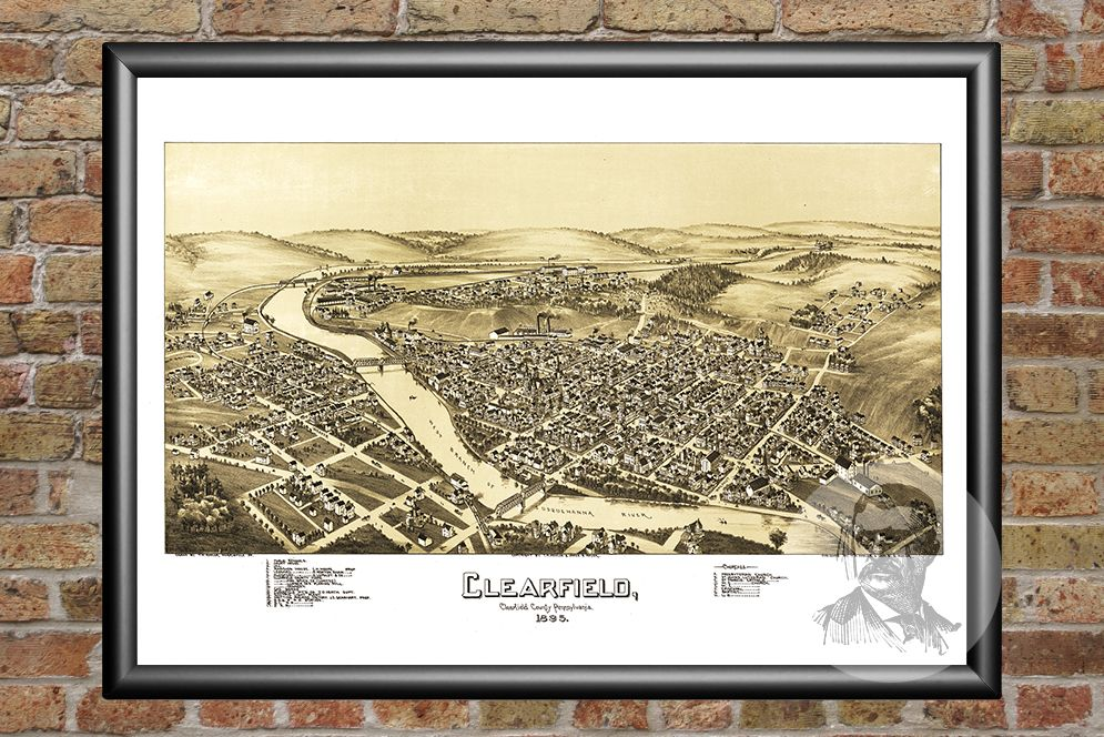 Clearfield, PA Historical Map - 1895