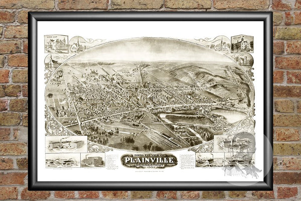 Plainville, CT Historical Map - 1907