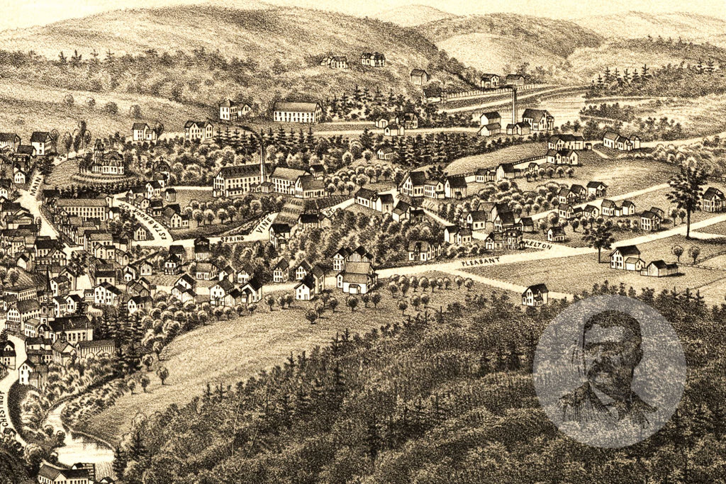 Athol, MA Historical Map - 1887 - Ted's Vintage Maps