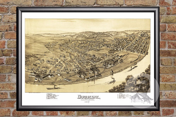 Duquesne, PA Historical Map - 1897