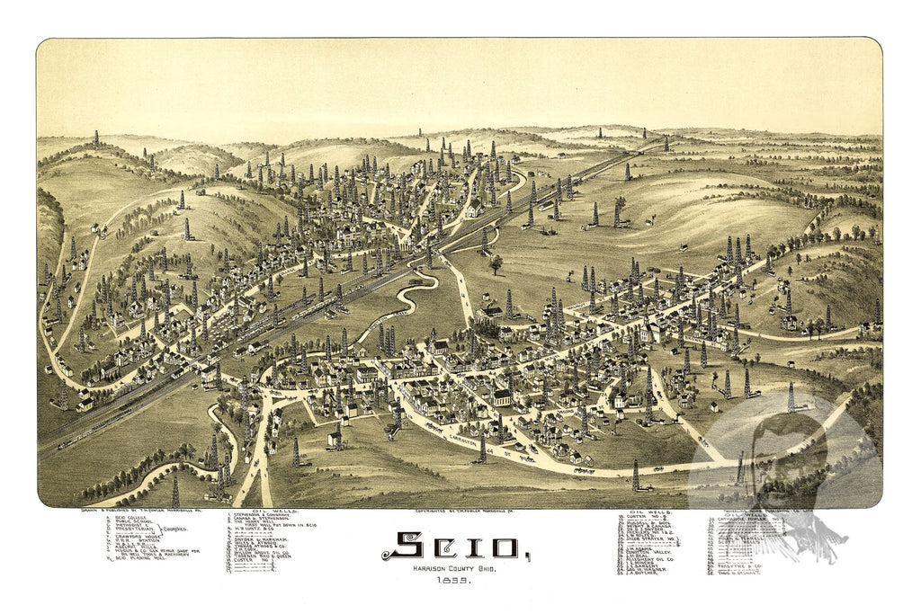 Scio, OH Historical Map - 1899