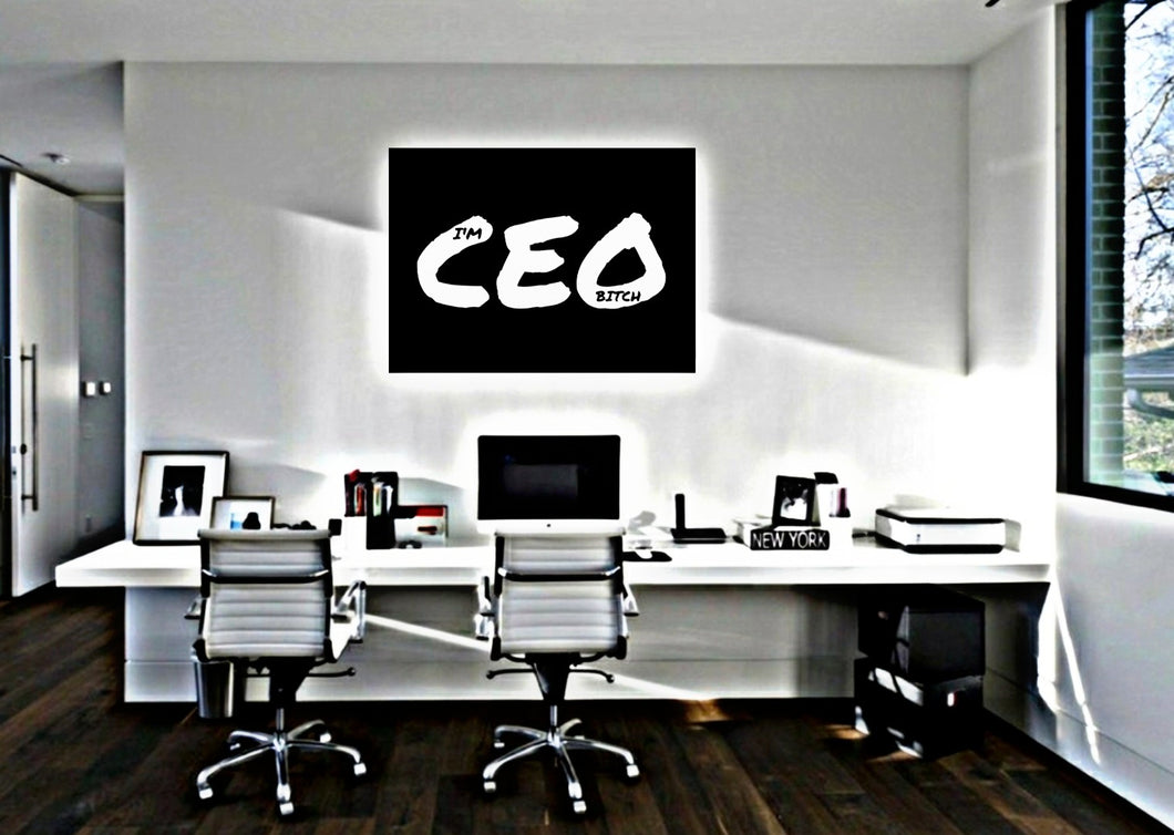 IM CEO BALLER CANVAS