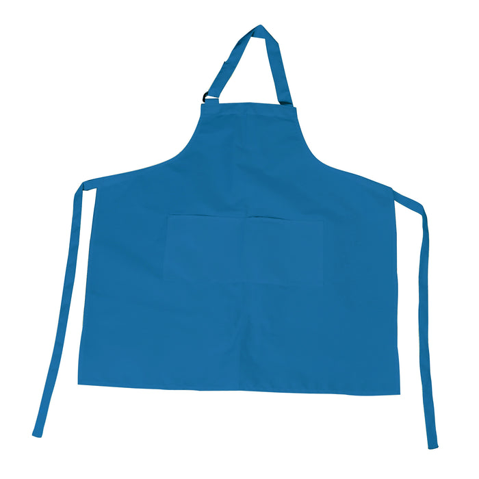 Blue Bib Apron with D-Ring Adjustable Neck