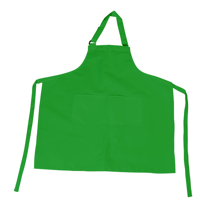 Green Bib Apron with D-Ring Adjustable Neck