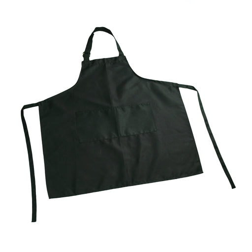 Black Bib Apron with D-Ring Adjustable Neck
