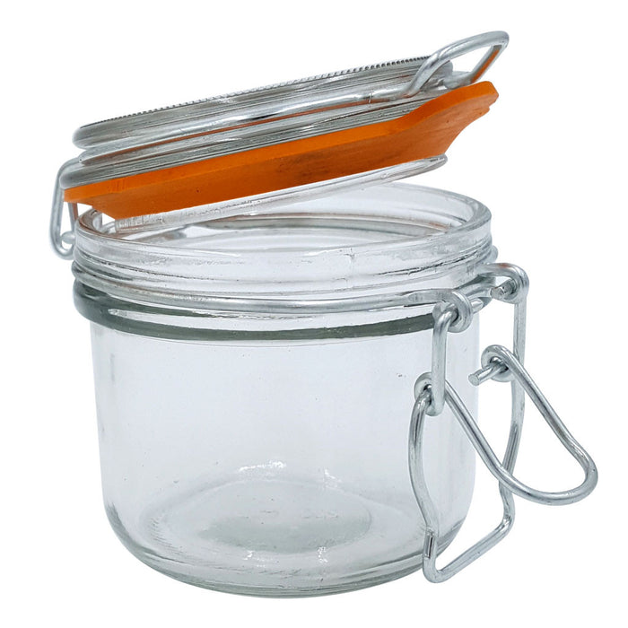 Clamp Lid Spice Storage Jar, Medium 7 Ounce