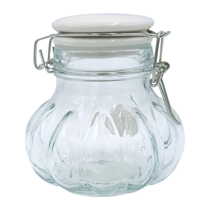 Meloni Storage Jar with White Top