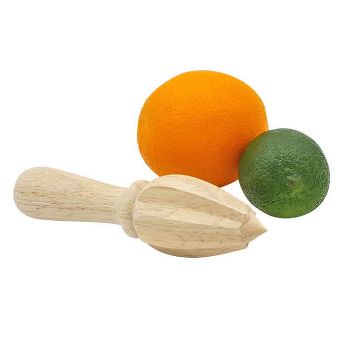 Wood Citrus Reamer Beechwood with Fruit Juice
