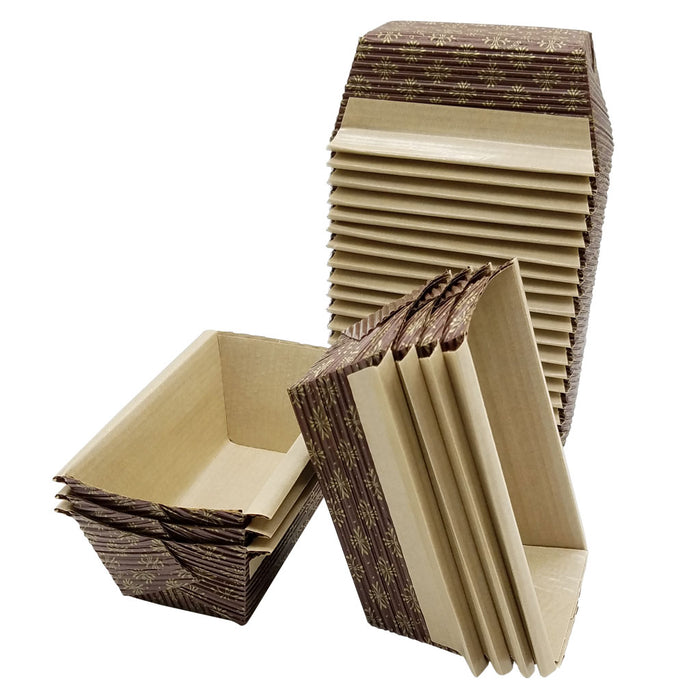 2590 25 Pack Mini Loaf Paper Bakers