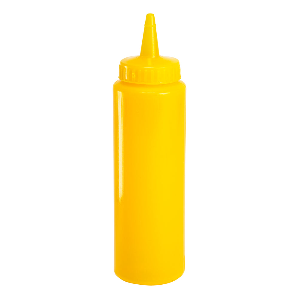 Squeeze Condiment / Sauce Bottle Yellow, 8 Ounce