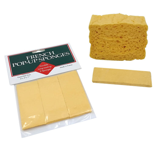 French Pop-Up Sponges - 3 Pack