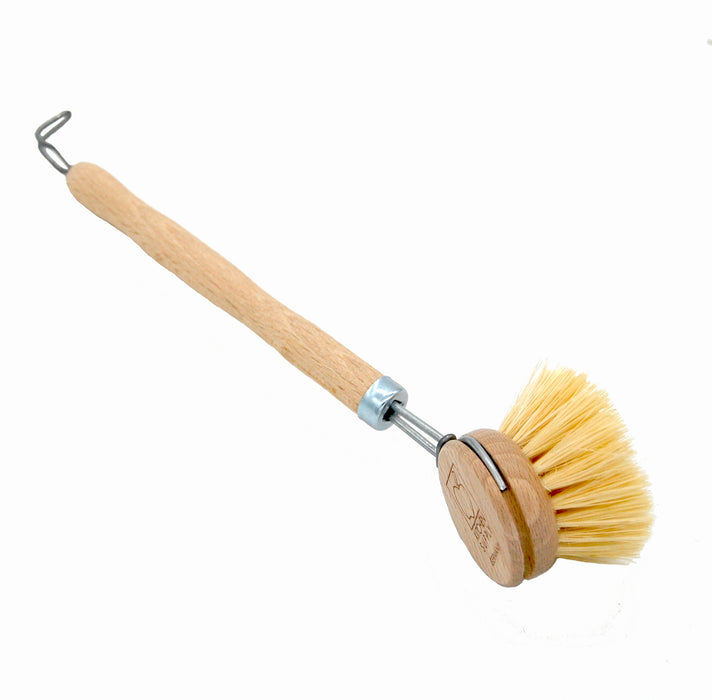 Tampico Dish Brush Wood Handle Natural Bristles