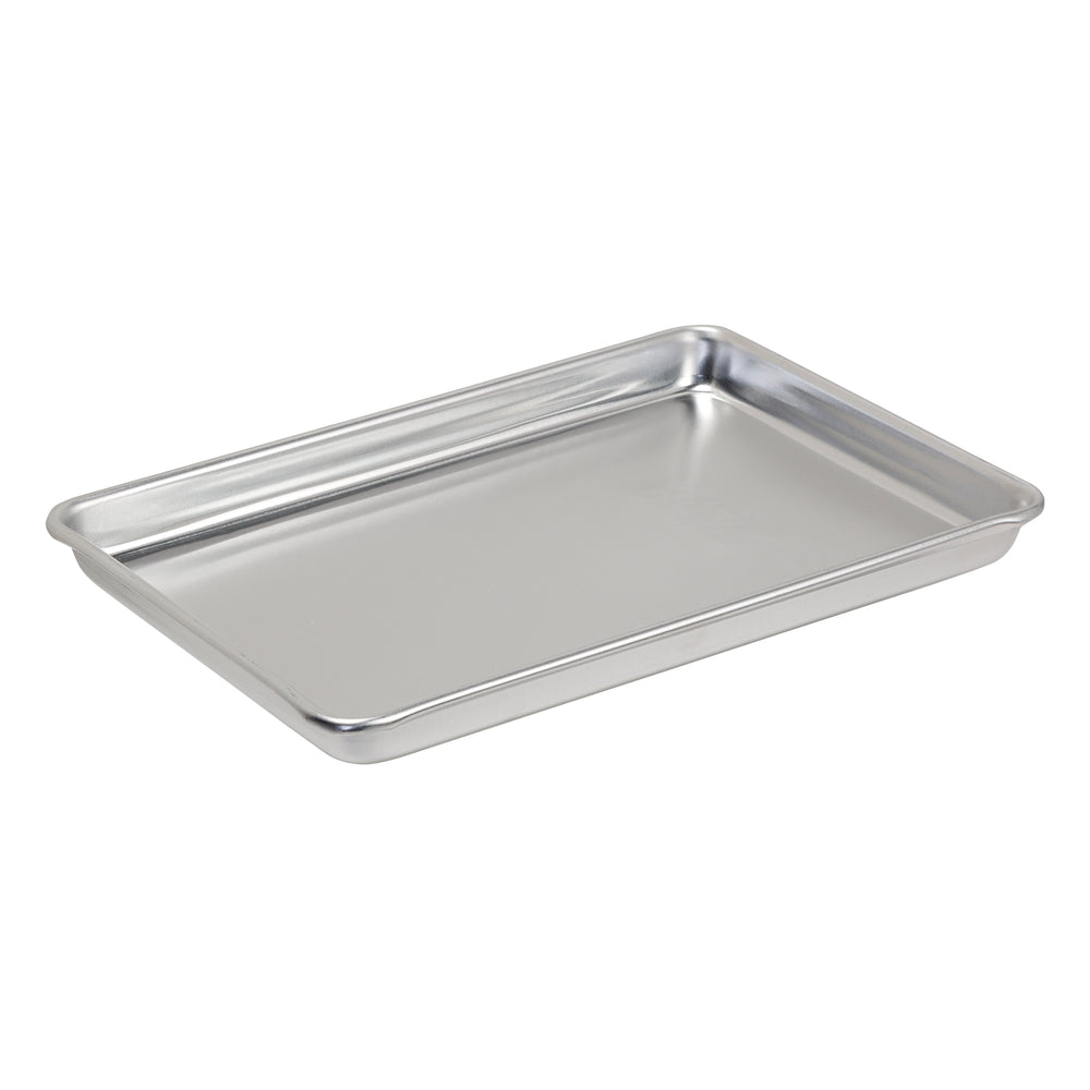 Toaster Oven Mini Sheet Pan, Aluminum 9.5-Inches x 6.75-Inches x 0.75-Inches