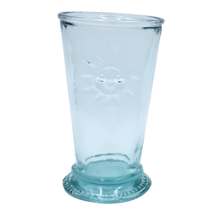 tinted green glass tuscan sun 8 ounce glass drink tumbler