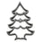 Scandinavian Rosette Cookie Mold, Large Christmas Tree, 4H x 2.75W x 0.5 Inches