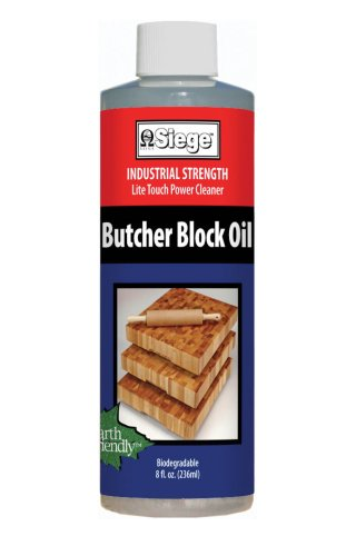 SIEGE BUTCHER BLOCK OIL, 8 OUNCE
