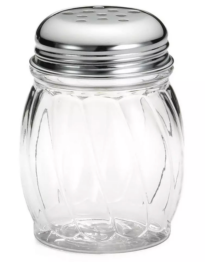 Glass Cheese Shaker with Chrome Top 6 Ounce