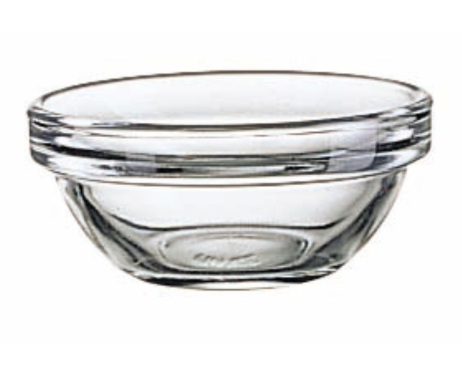 Stackable Glass Bowls 4 Inch Diameter, Set of 6