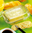 Cow Embossed Butter Dish, 1 lb Capacity, Glass 2-Piece