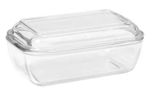 1/2 Pound Butter Dish, Glass 2-Piece