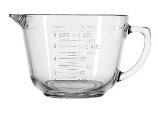 Glass Mixing Measuring Bowl 2 Quart