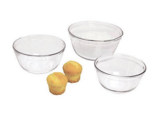 Glass Mixing Bowls Ovenproof, Set of 3
