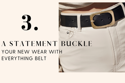 40037 Jodi - Classic Leather belt with Square Buckle