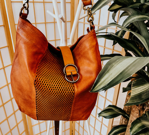 amsterdam heritage boho tote leather bag and leather belt