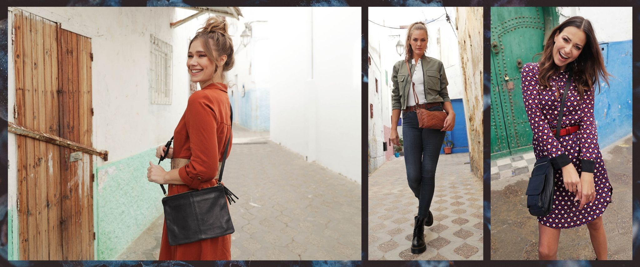 Womens leather crossbody bags - Amsterdam Heritage