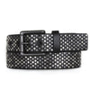 35016 Melle black multi colored belt with studs - Amsterdam Heritage Belts