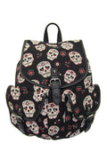Sugar Skull Backpack - High Voltage Clothing & Accessories Ltd