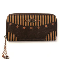 Brown Striped Wallet - High Voltage Clothing & Accessories Ltd