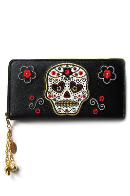 Candy Skull Wallet - High Voltage Clothing & Accessories Ltd
