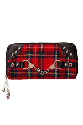 Tartan Handcuff Wallet - High Voltage Clothing & Accessories Ltd