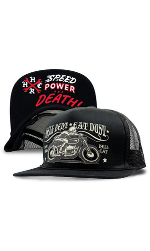 Hell Bent Eat Dust Cap - High Voltage Clothing & Accessories Ltd