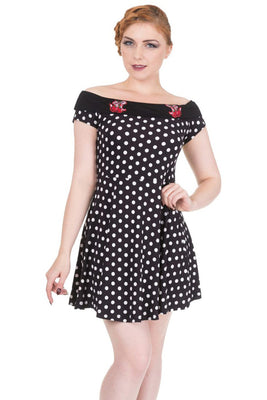 Cherry Dots Mini Dress - High Voltage Clothing & Accessories Ltd