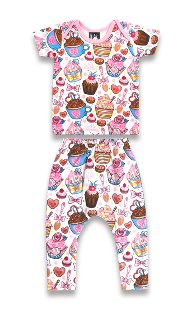 Cupcakes Pyjama Set - High Voltage Clothing & Accessories Ltd