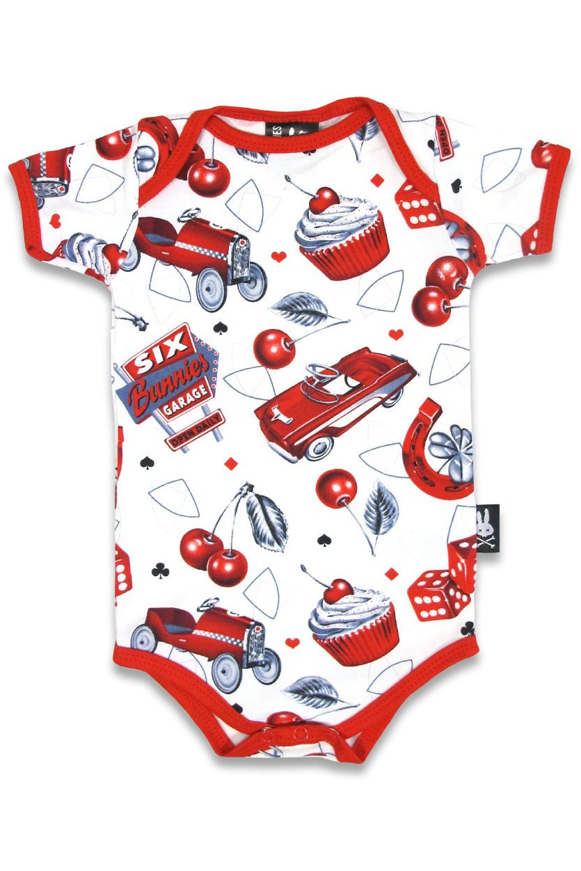 Cherry Garage Onesie - High Voltage Clothing & Accessories Ltd