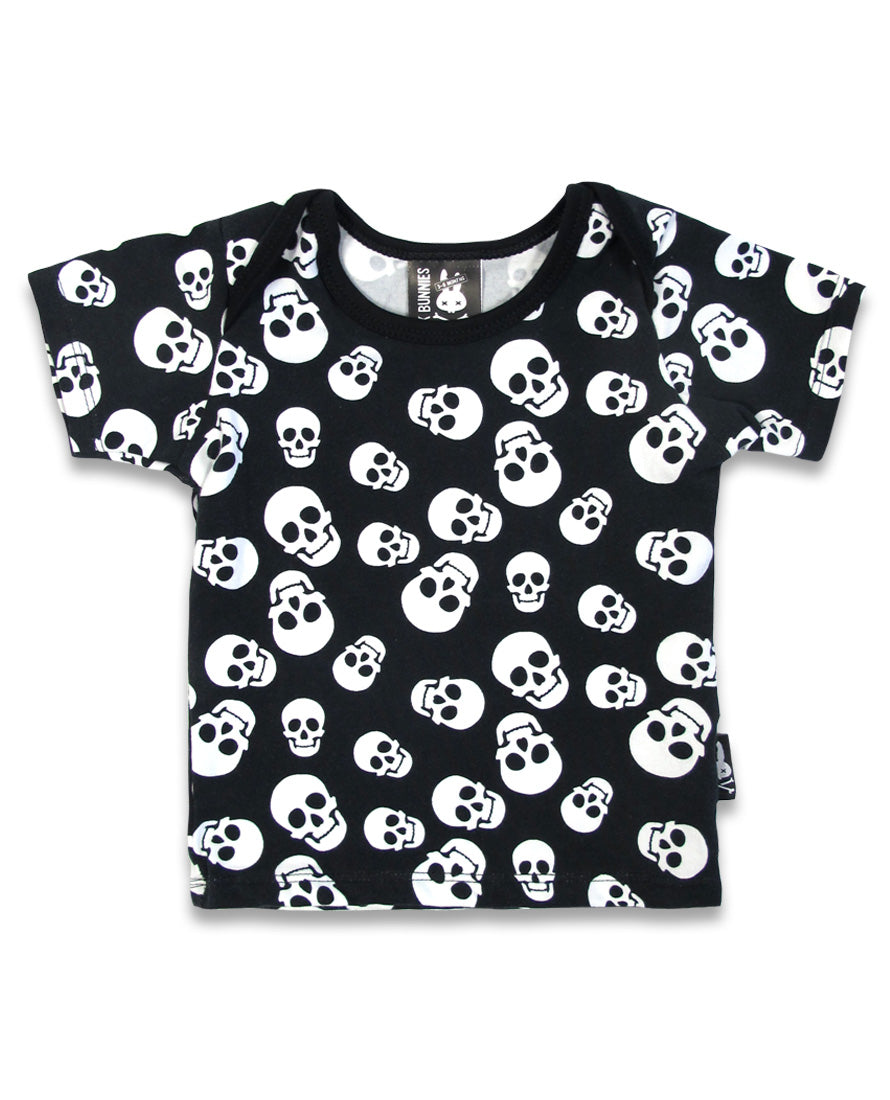 Polka Skulls Pyjama Set - High Voltage Clothing & Accessories Ltd