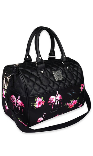 Flamingos Quilted Handbag - High Voltage Clothing & Accessories Ltd