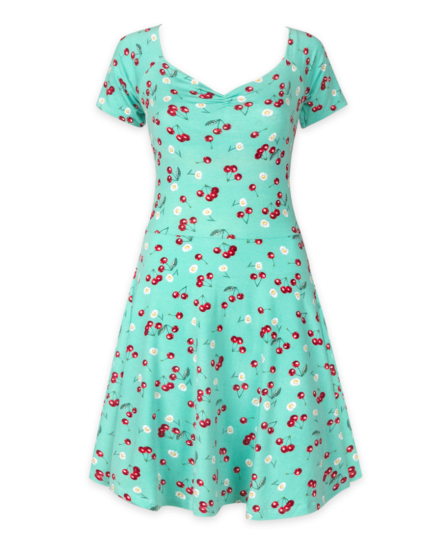 Daisy Cherry Dress - High Voltage Clothing & Accessories Ltd