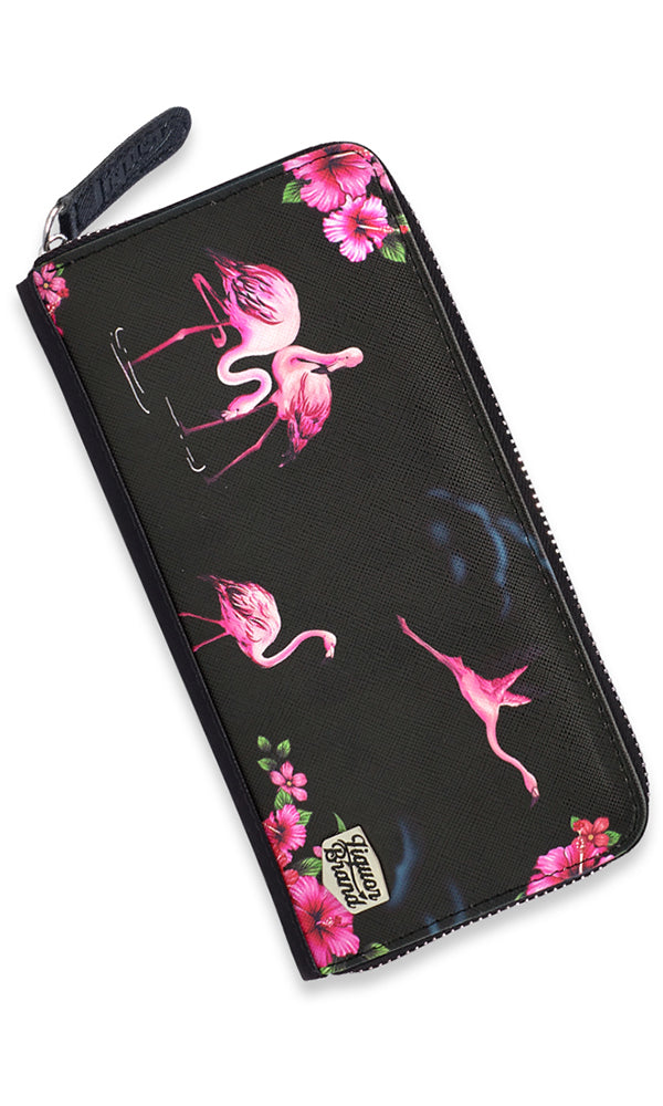 Flamingos Wallet - High Voltage Clothing & Accessories Ltd