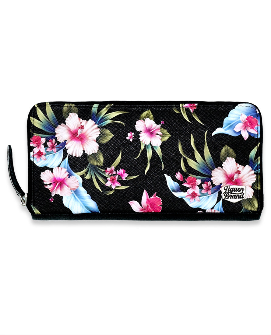 Luau Black Wallet - High Voltage Clothing & Accessories Ltd