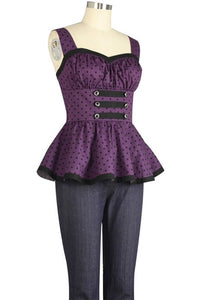 Pinup Sleeveless Top - High Voltage Clothing & Accessories Ltd