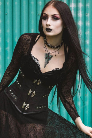 C-Lock Underbust Corset - High Voltage Clothing & Accessories Ltd