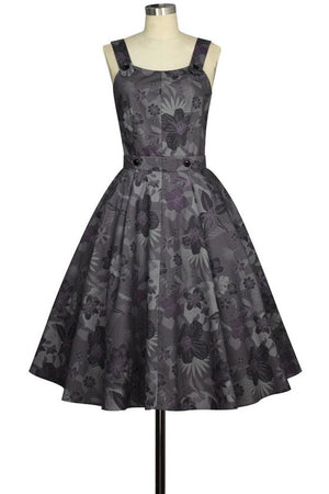 Floral Rockabilly Dress - High Voltage Clothing & Accessories Ltd