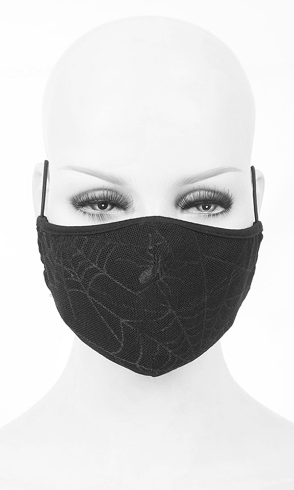 Spider Web Mask - High Voltage Clothing & Accessories Ltd