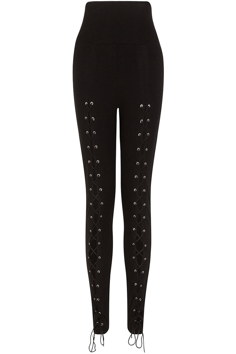 Carmenta Lace Up Leggings - High Voltage Clothing & Accessories Ltd